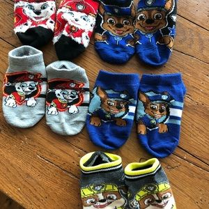 Set of 5 Paw Patrol size 2T-3T toddler socks